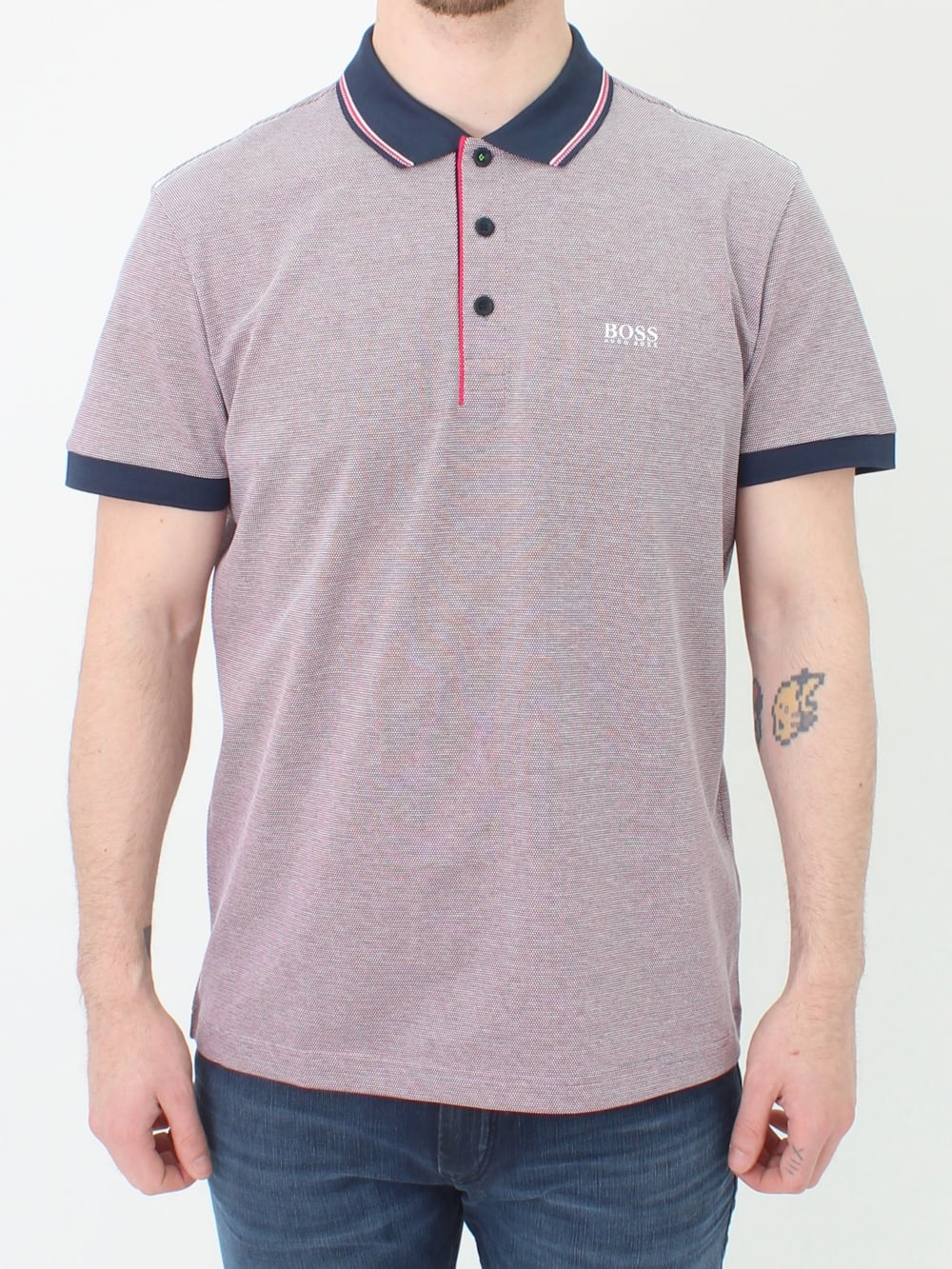 ae6a33c4 Hugo Boss Green Paddy 2 Polo in Bright Pink | Northern Threads