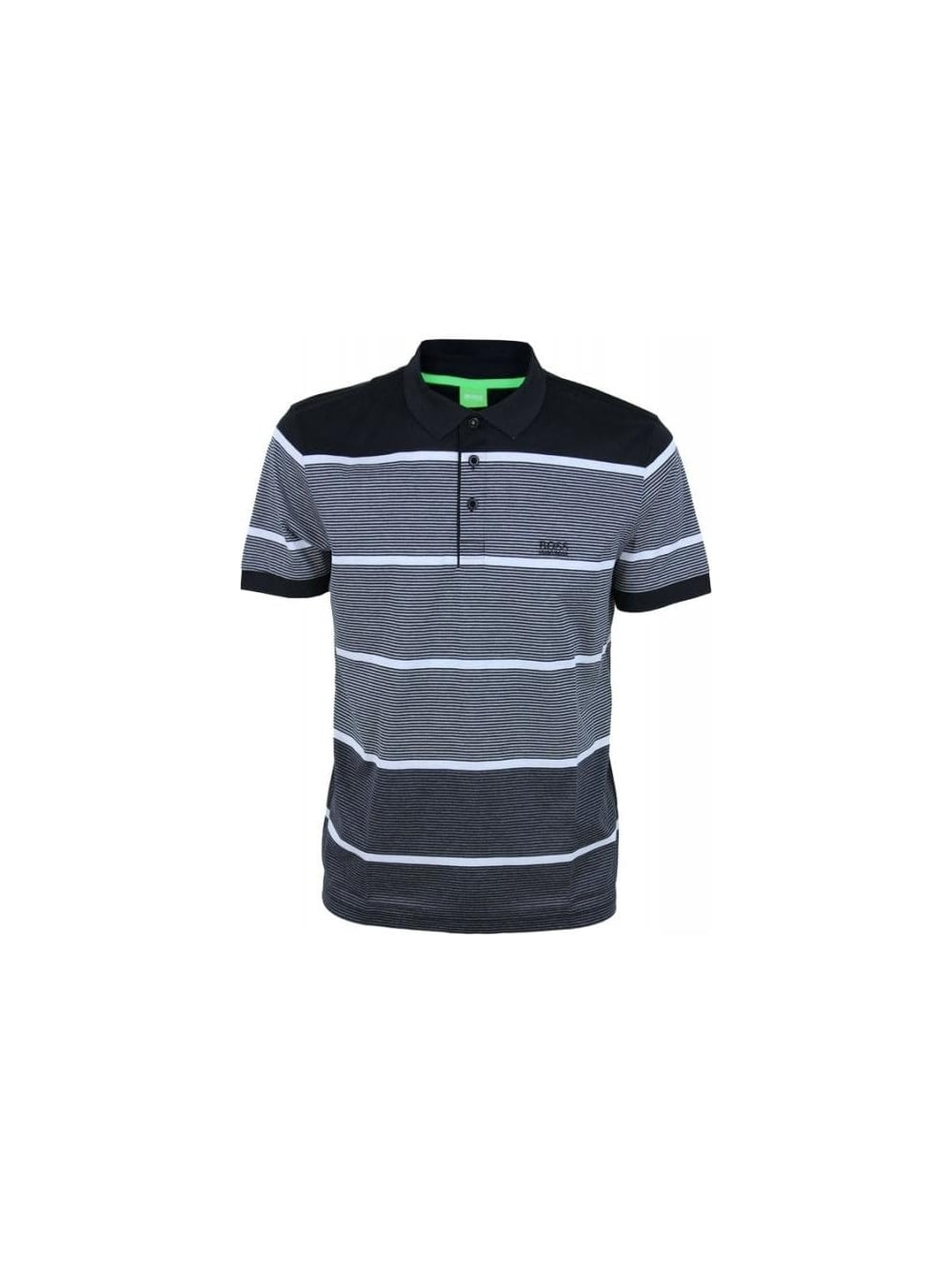 3a95b77cb Hugo Boss Green Paddy 3 Polo in Black - Northern Threads