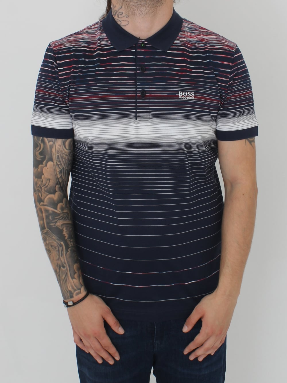 881480422 HUGO BOSS Paddy 3 Polo in Navy - Northern Threads
