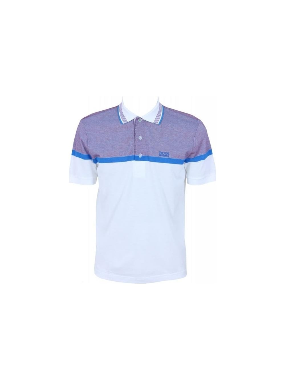c545d8964 Hugo Boss Green Paddy 6 Polo in Medium Blue - Northern Threads