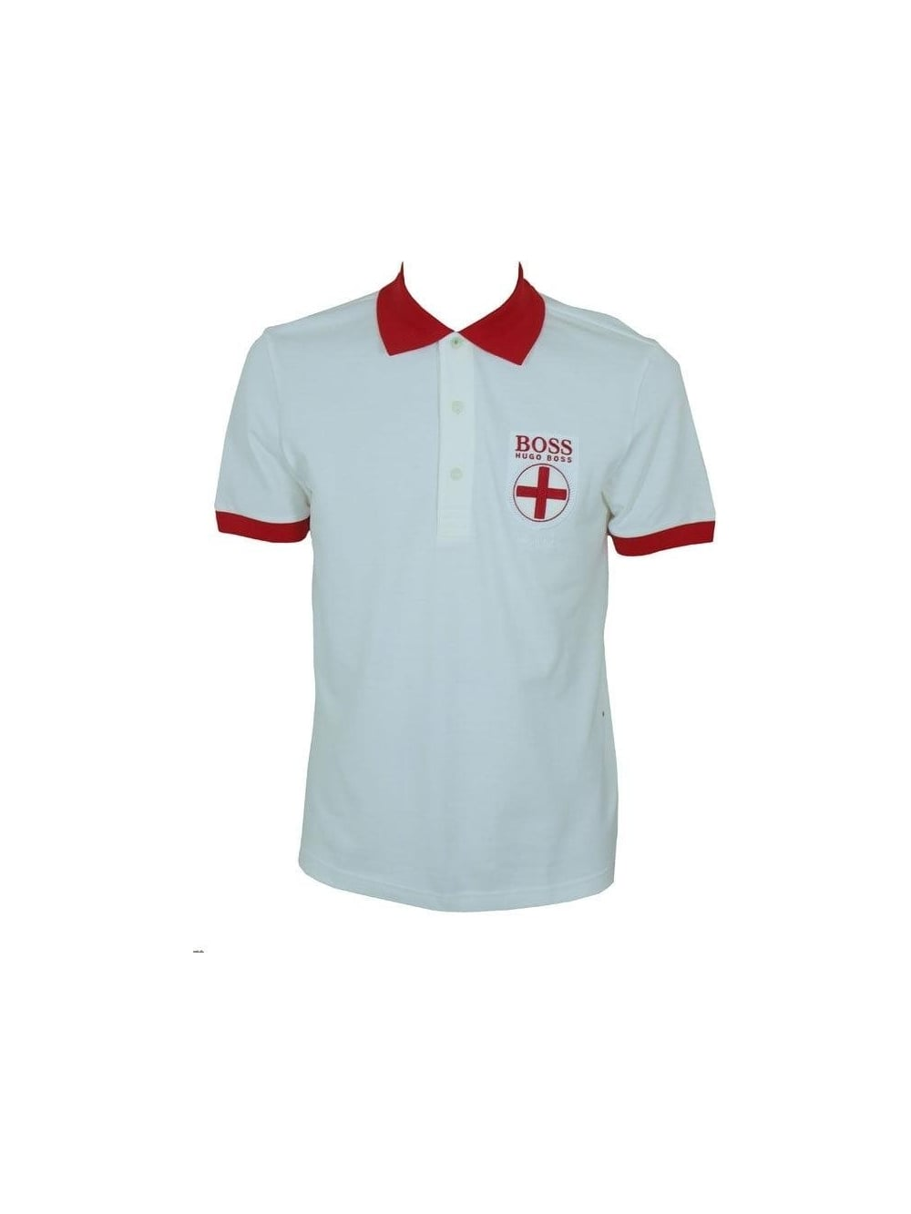 Hugo Boss Green Paddy Flag England Polo in White - Shop Hugo Boss ... 4cf6a2215