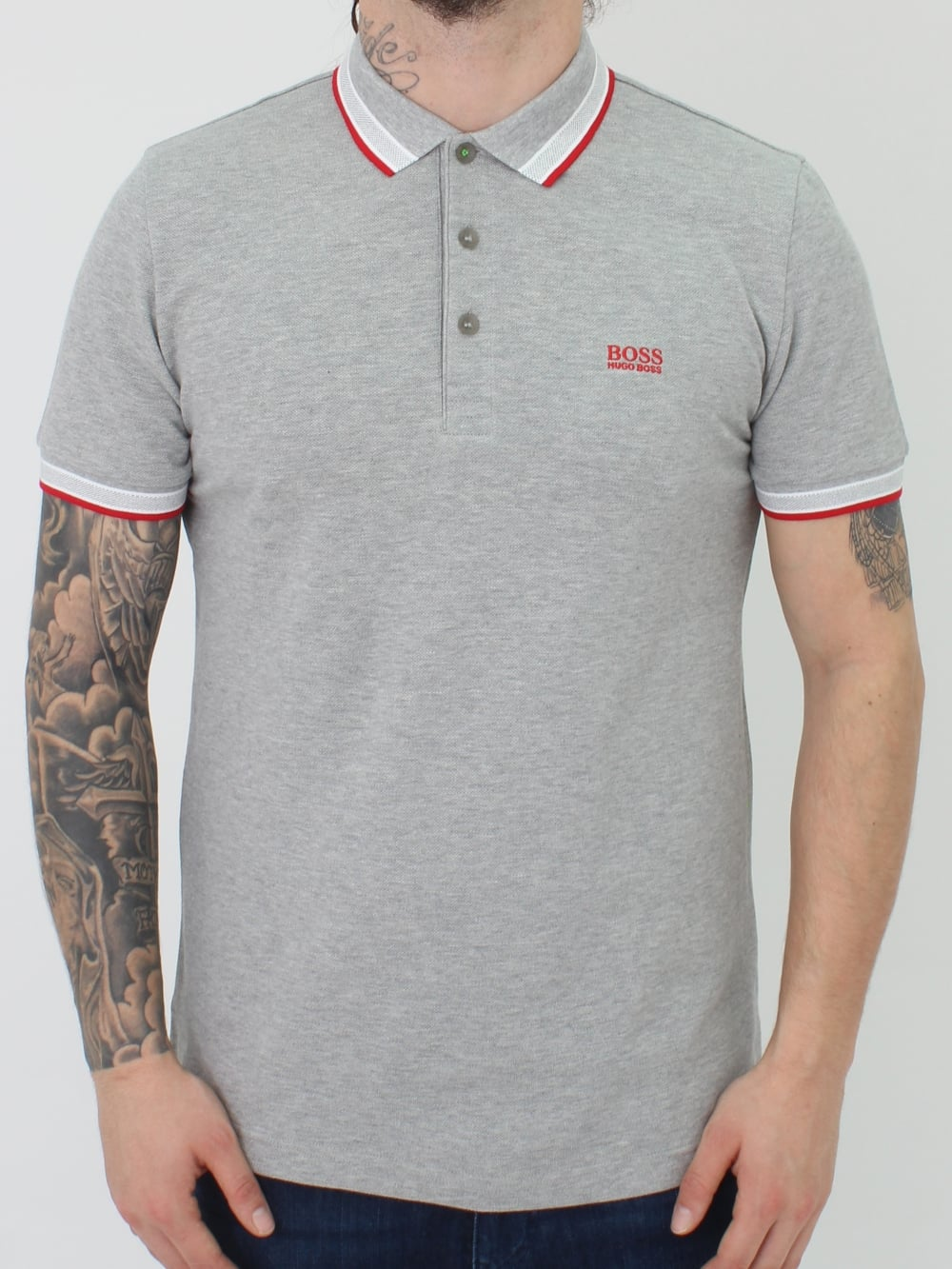 8884f2b8e Hugo Boss Paddy Polo in Open Grey - Northern Threads