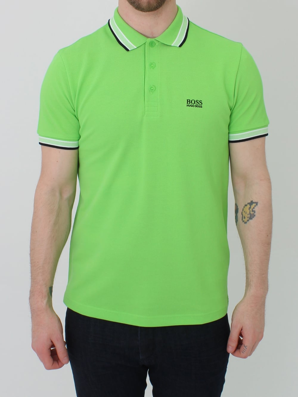6ce927f28 Hugo Boss Green Paddy Polo in Pastel Green | Northern Threads
