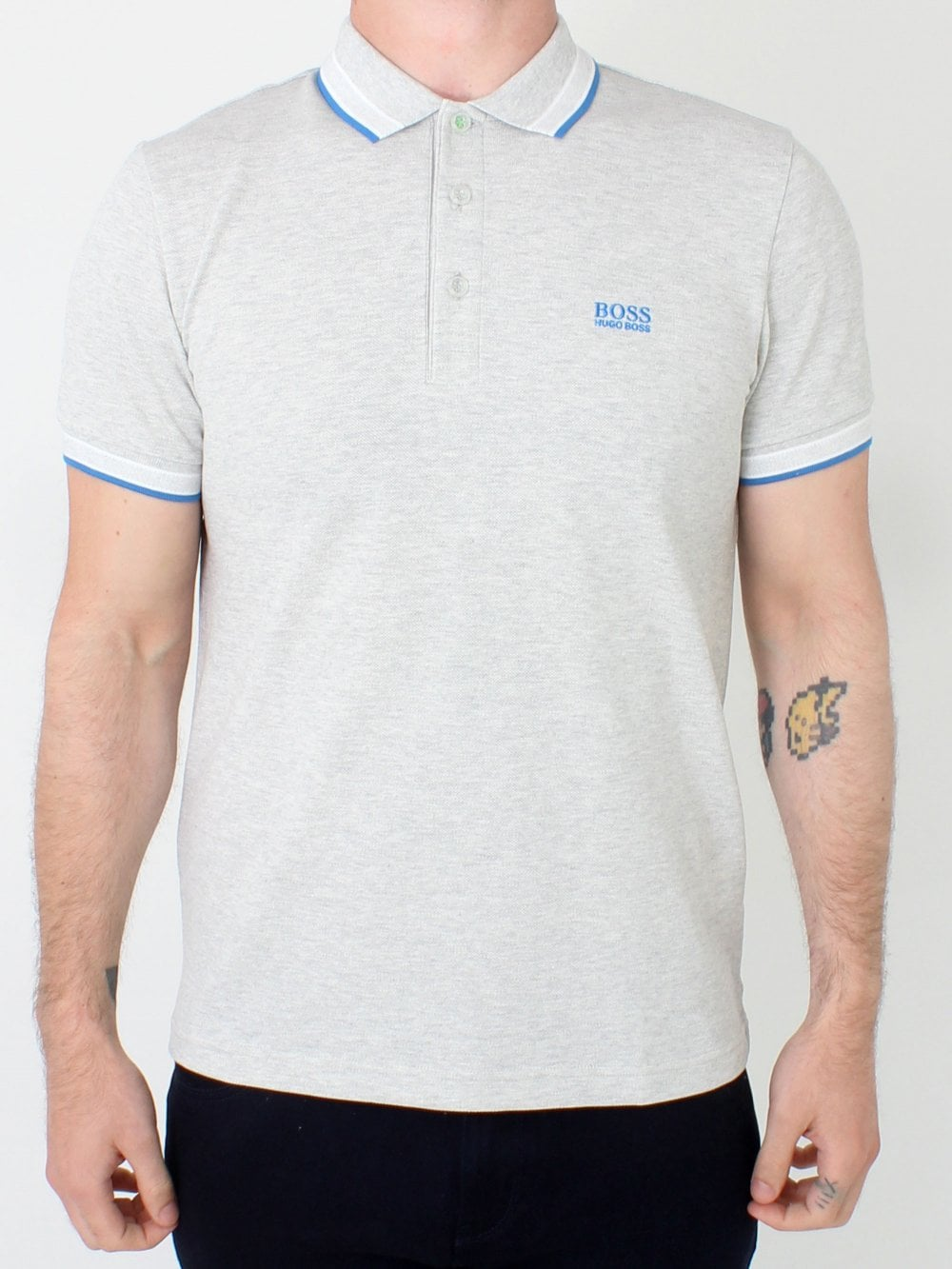 cf6b8f9c Hugo Boss Paddy Polo in Pastel Grey | Northern Threads