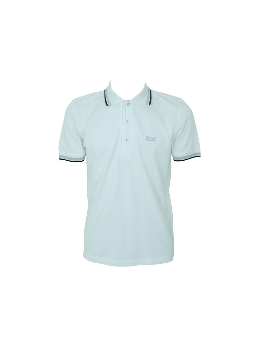 f36284f9b Hugo Boss Green Paddy Polo in White - Shop Hugo Boss Green at ...