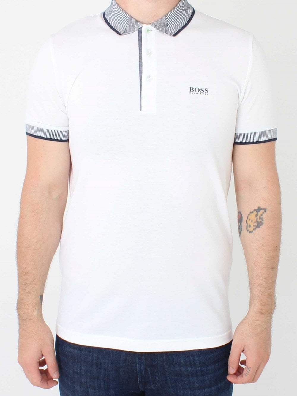 2f40e14d Hugo Boss Paule 2 Polo in White | Northern Threads