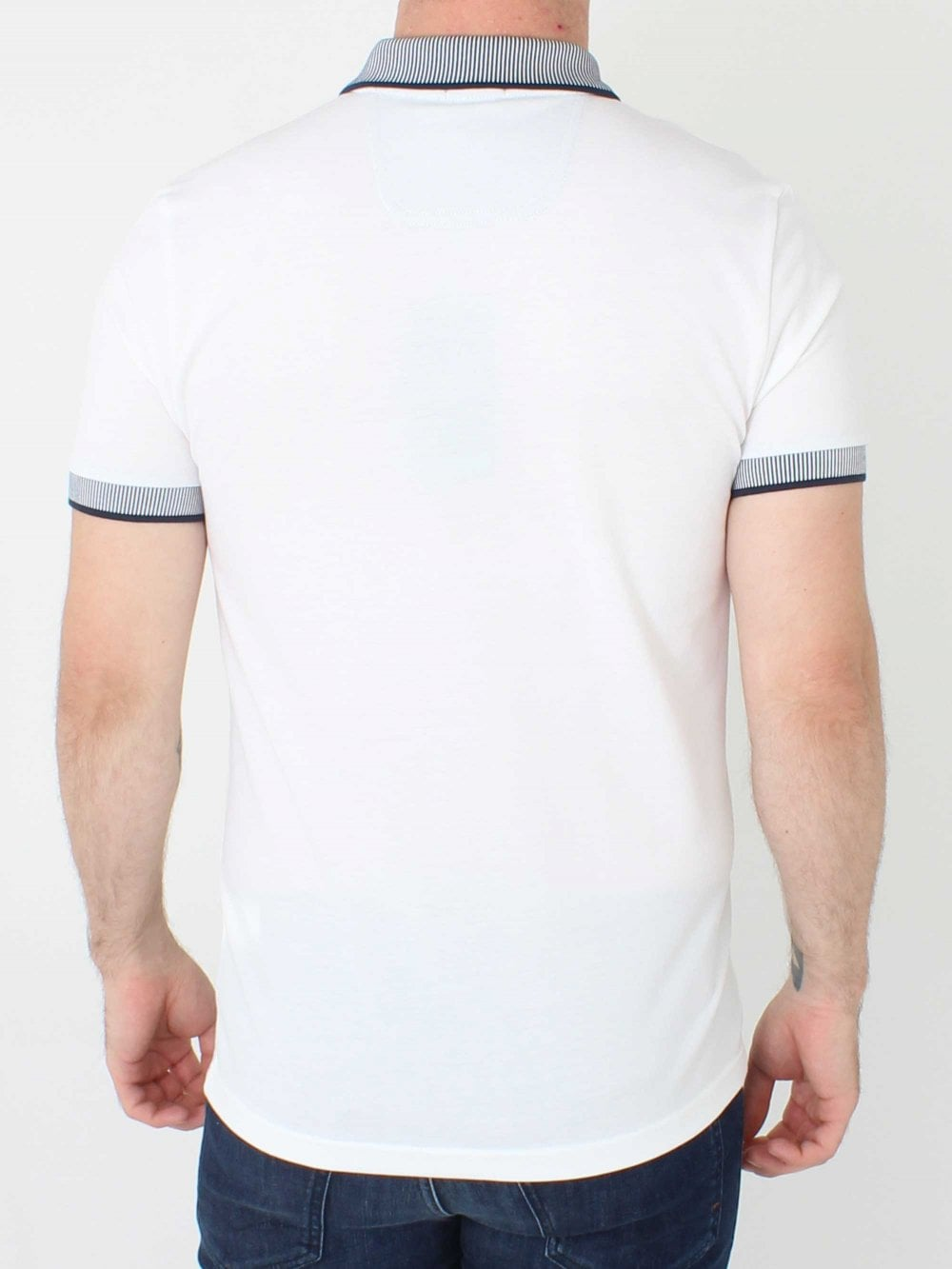 de677914 Hugo Boss Paule 2 Polo in White | Northern Threads