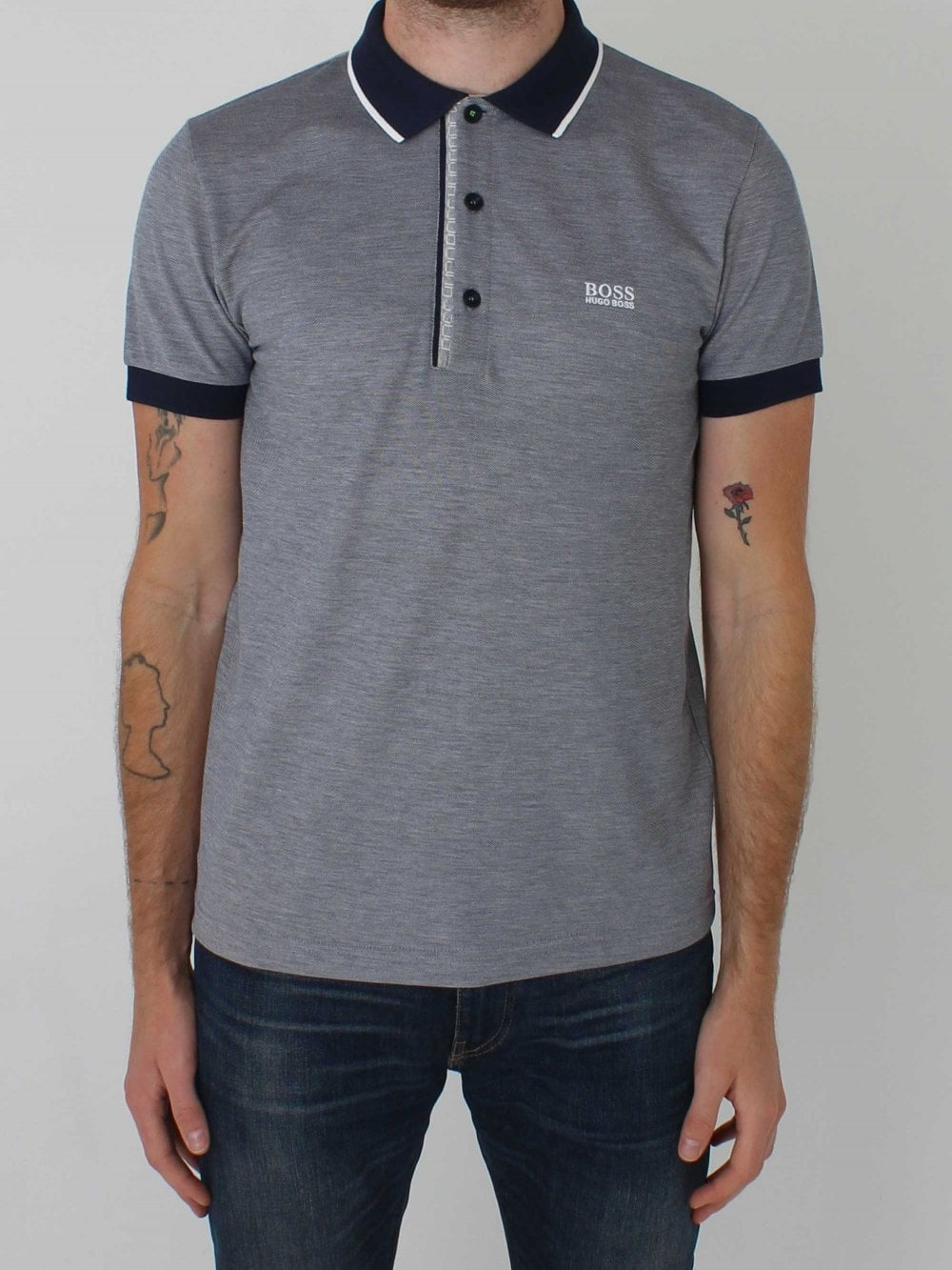 78ed46c9 Hugo Boss Paule 4 Polo in Navy | Northern Threads