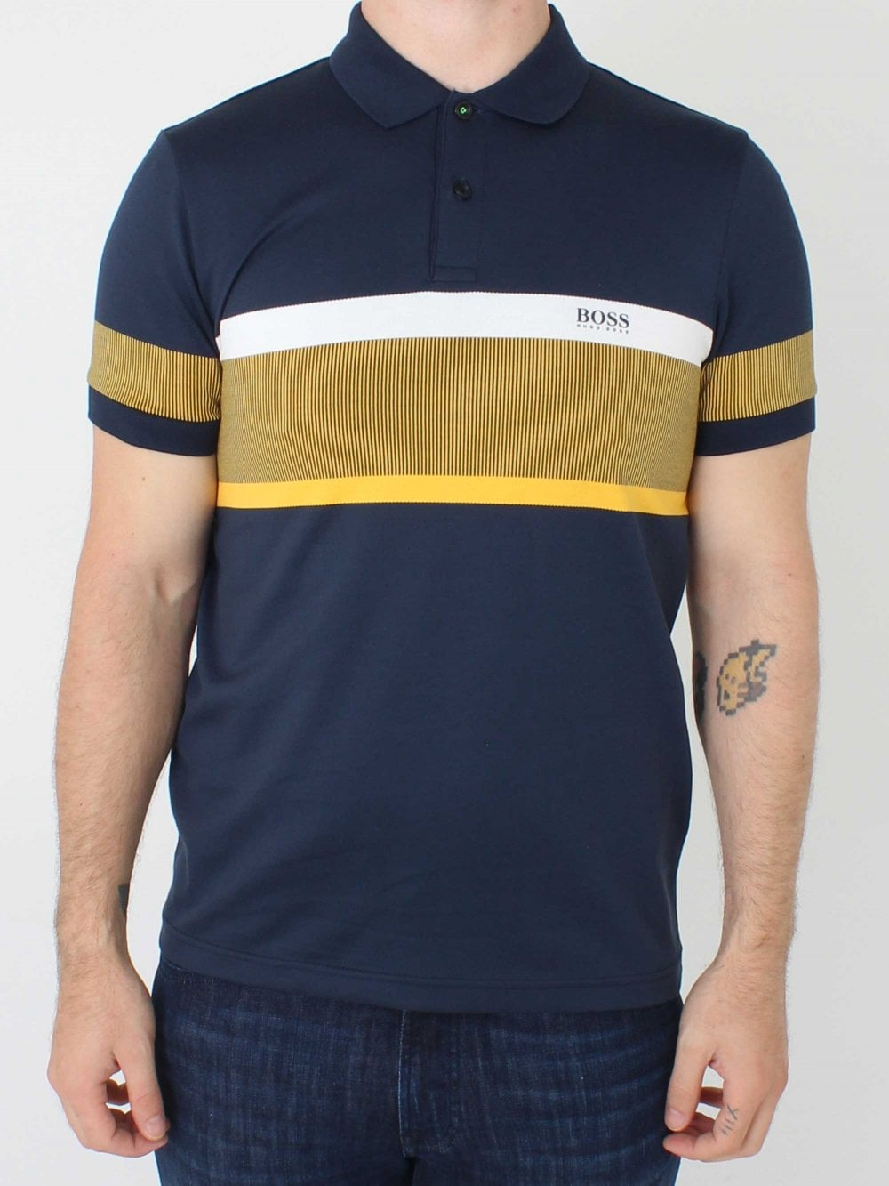 71428f14 Hugo Boss Paule 5 Polo in Navy | Northern Threads