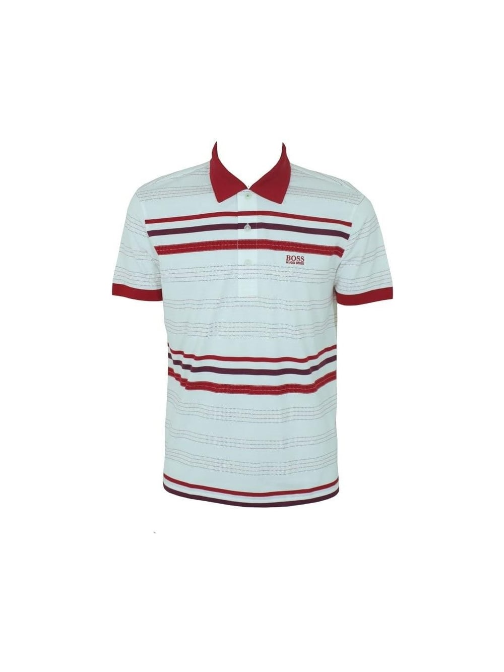 917aa889b Mens BOSS Paule Polo - Red/ White | SALE | Buy Online UK