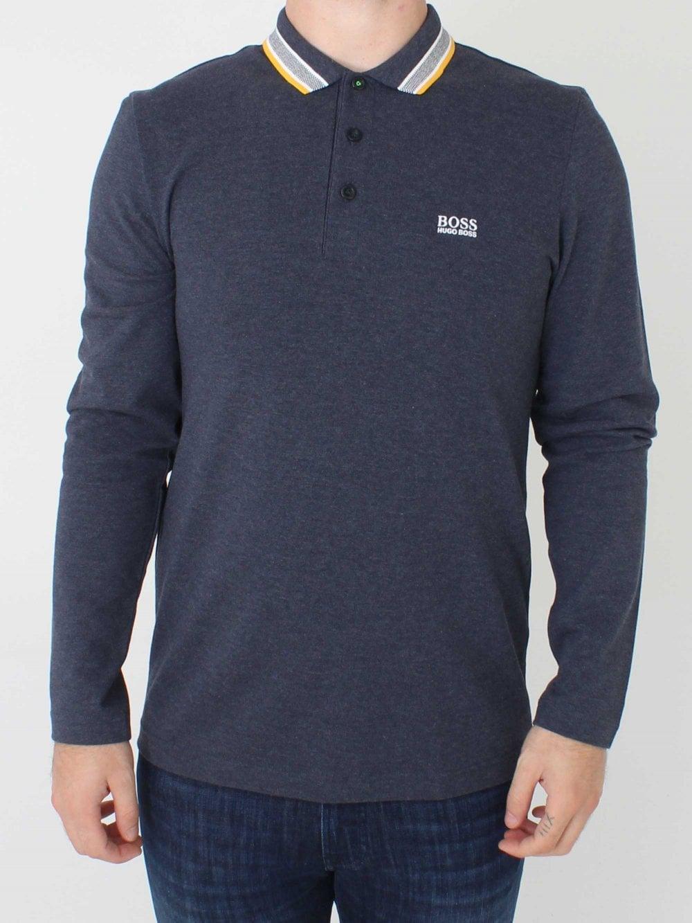 4929a7104 Hugo Boss Plisy Long Sleeve Polo in Navy