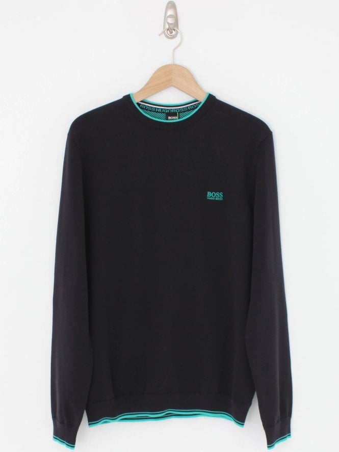 BOSS Athleisure Rimex Crew Neck Knit - Black