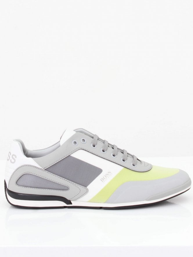 BOSS Athleisure Saturn Low Trainer - Open Grey
