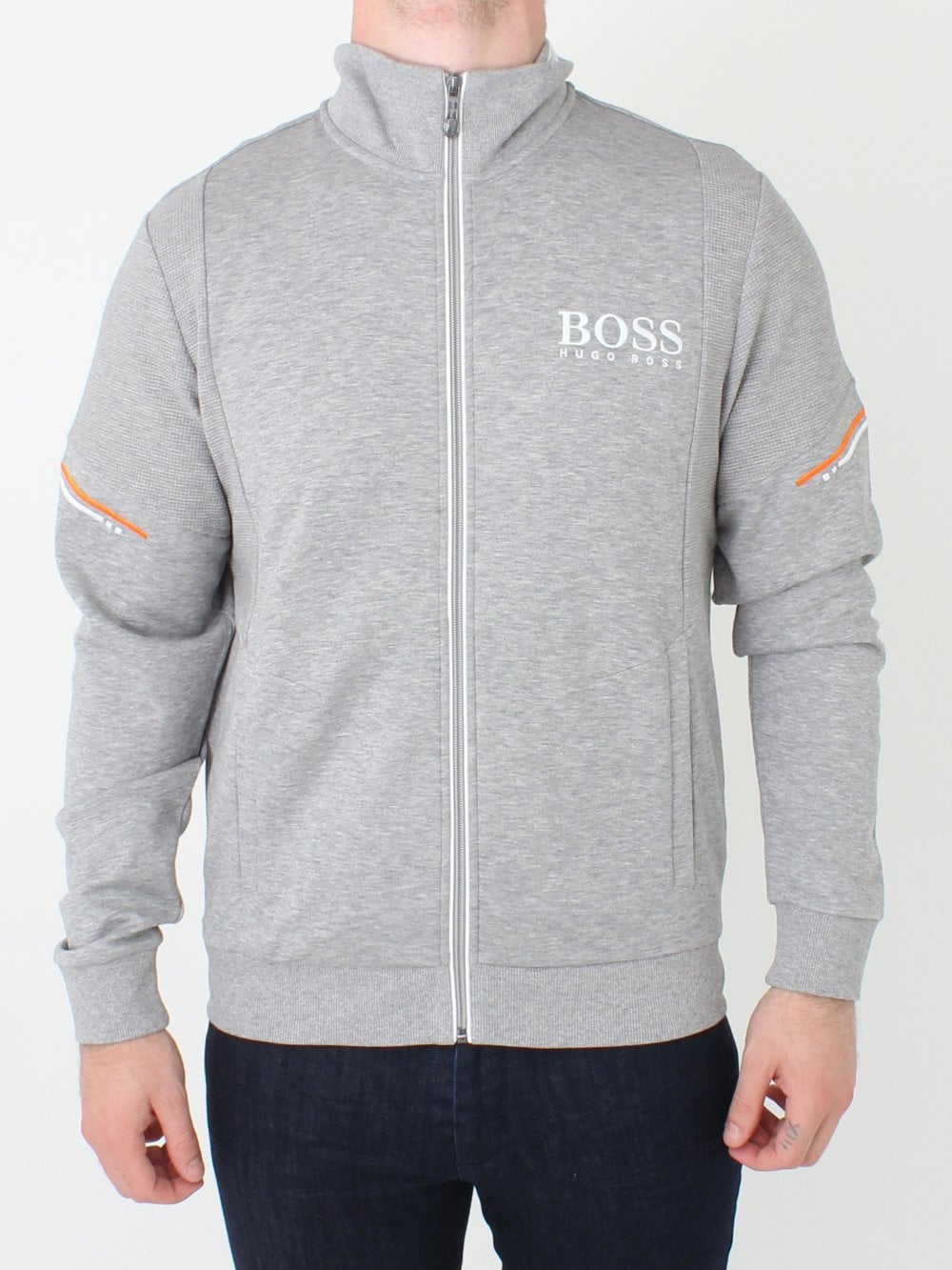 28ef365c425 Hugo Boss Skaz Sweat in Pastel Grey | Northern Threads