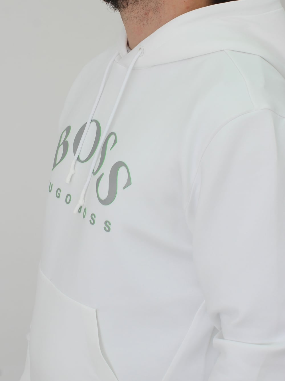 ab38faa83b6 Hugo Boss Sly Hooded Sweat in White - Northern Threads