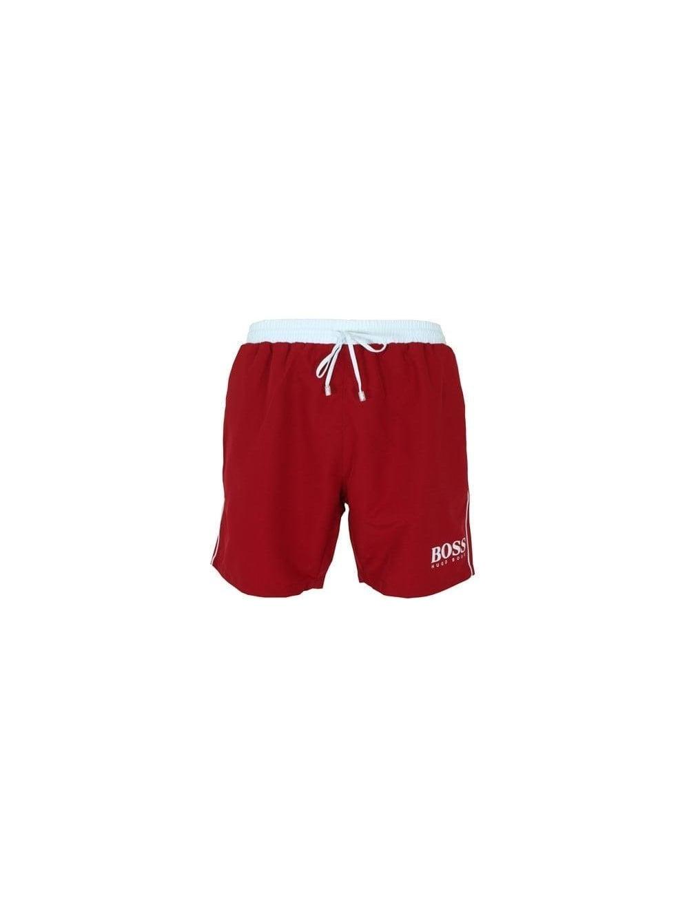 b759de2a2 Hugo Boss Green Starfish Swimming Shorts in Medium Red - Buy Hugo ...