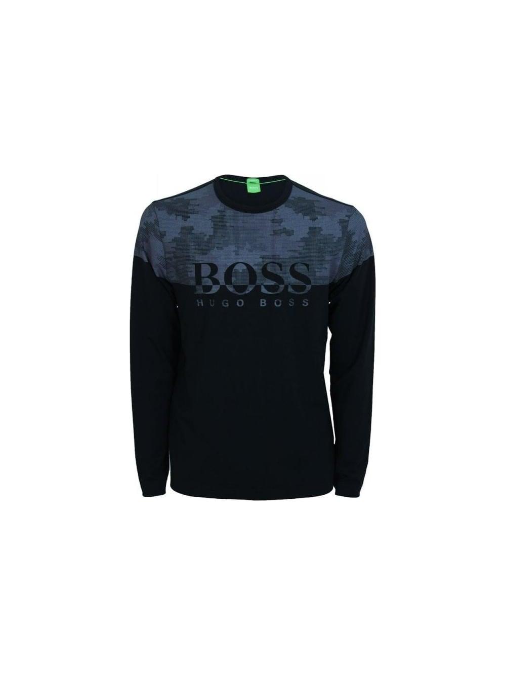 8c8e8bbb3 Hugo Boss Green Togn 4 Long Sleeve T.Shirt in Black - Northern Threads