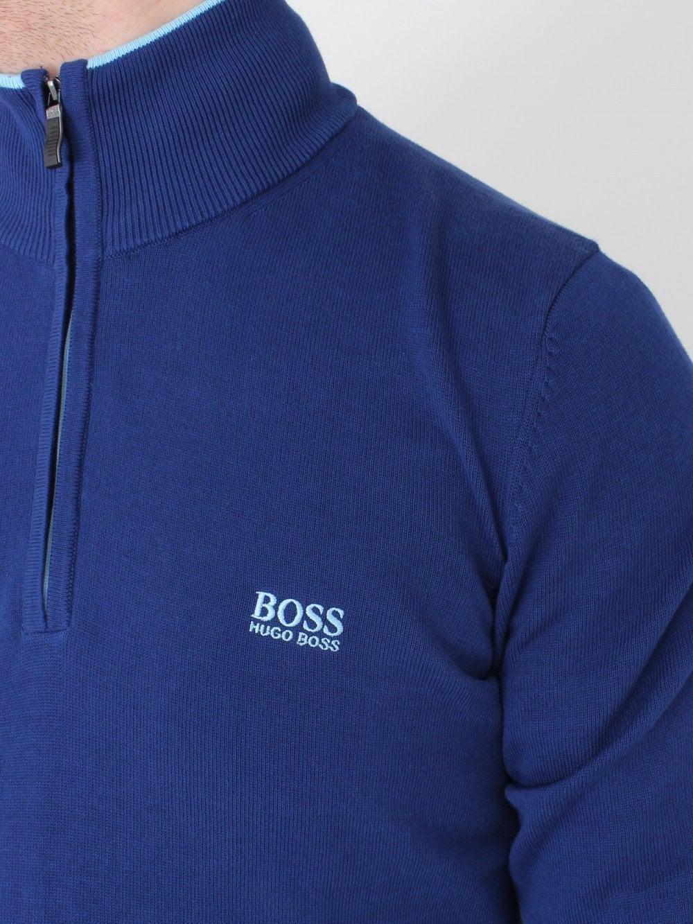 8f458ad2f Hugo Boss Zimex 1/4 Zip Knit in Dark Blue | Northern Threads