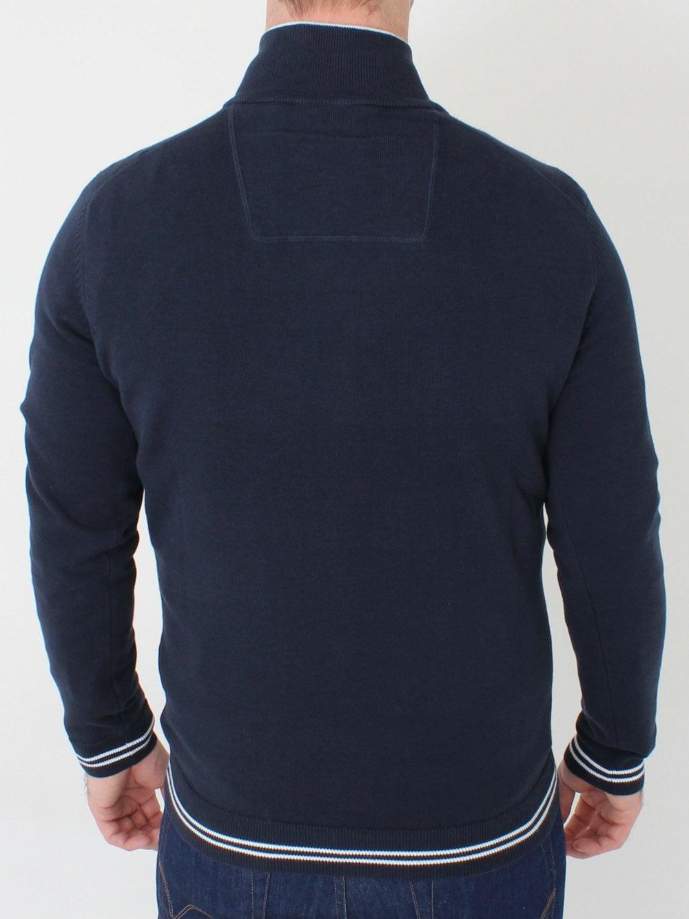 22f76d94a Hugo Boss Zimex 1/4 Zip Knit in Navy | Northern Threads