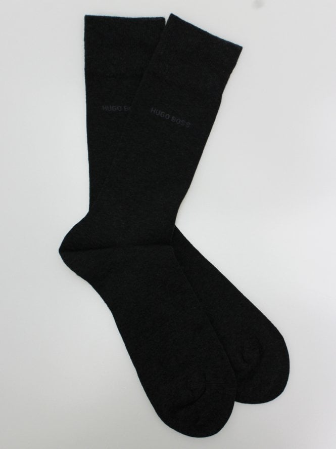 BOSS Bodywear 2 Pack RS Uni Socks - Charcoal