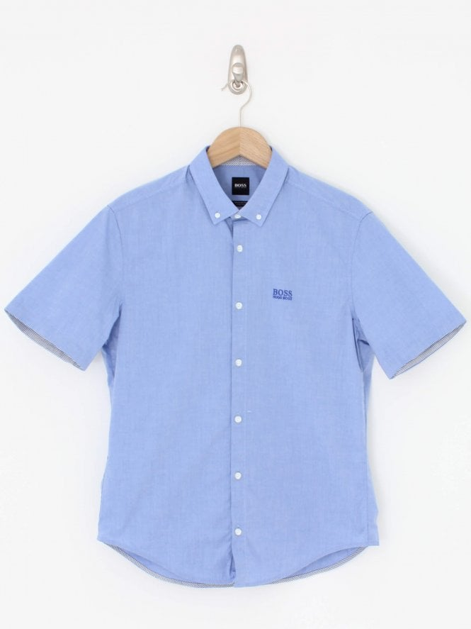 BOSS Biada Regular Fit Shirt - Medium Blue