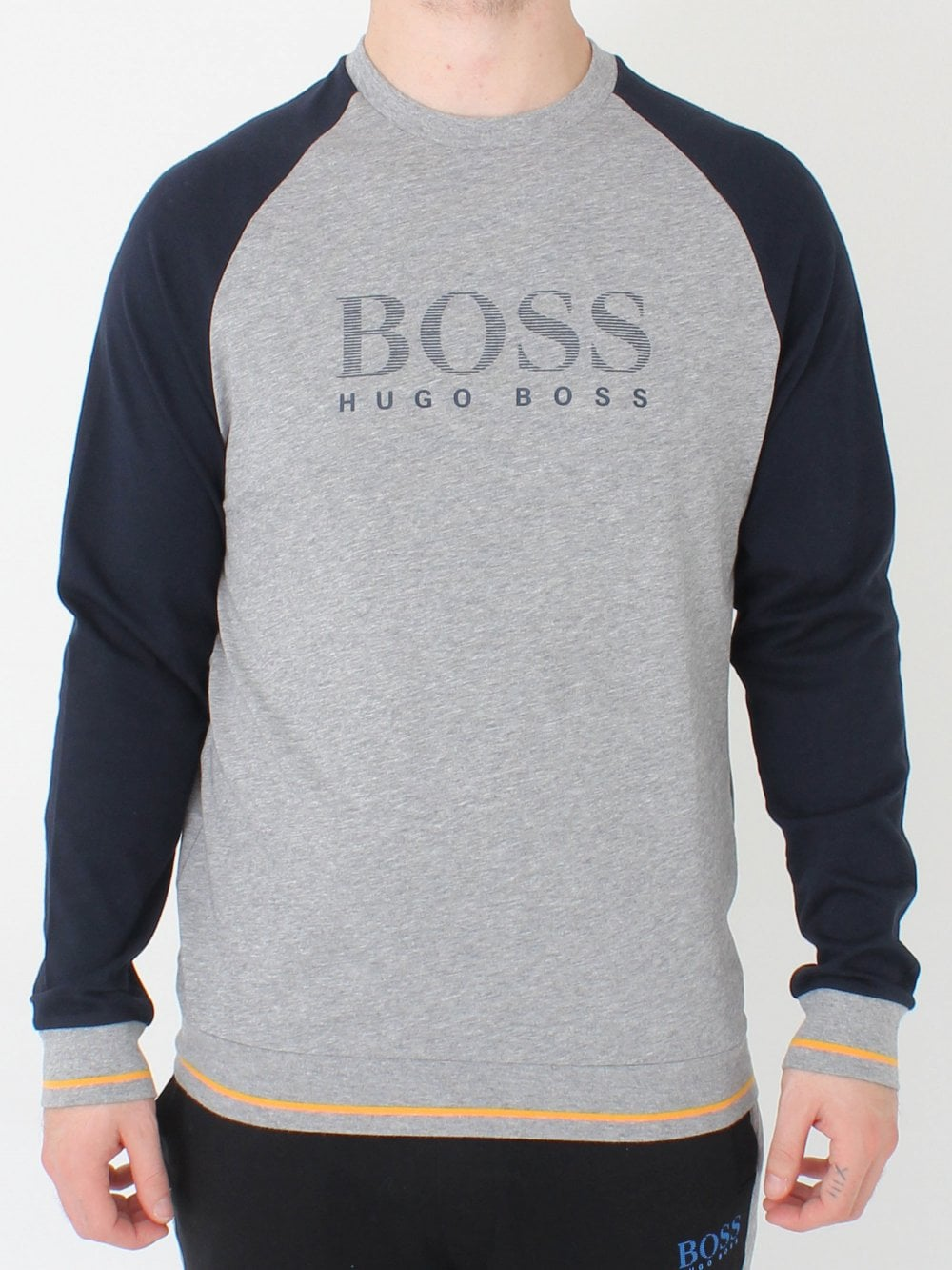 2f3eaed5f Hugo Boss Authentic Crew Sweatshirt in Medium Grey | Northern Threads