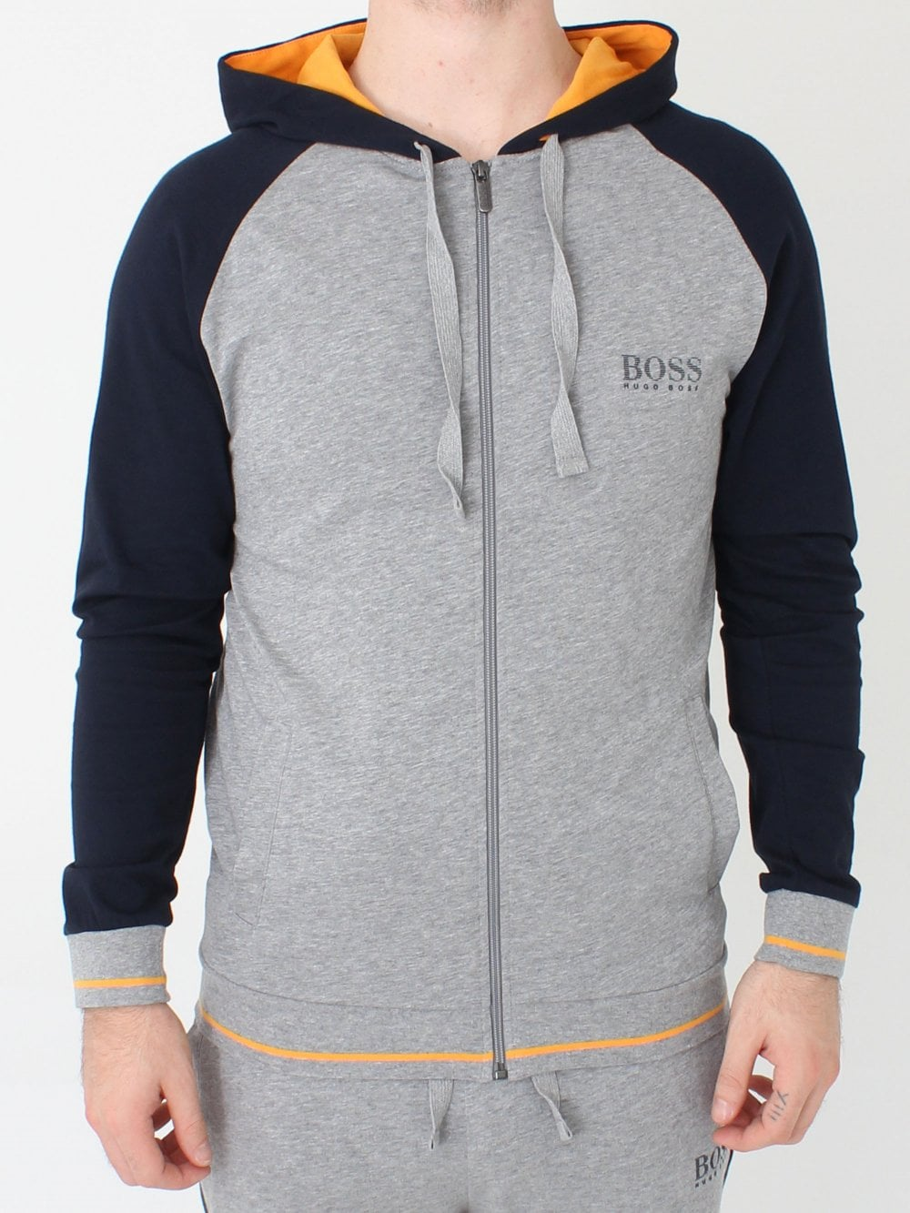 8f9b7e4ac8a Hugo Boss Authentic Hooded Jacket in Medium Grey | Northern Threads