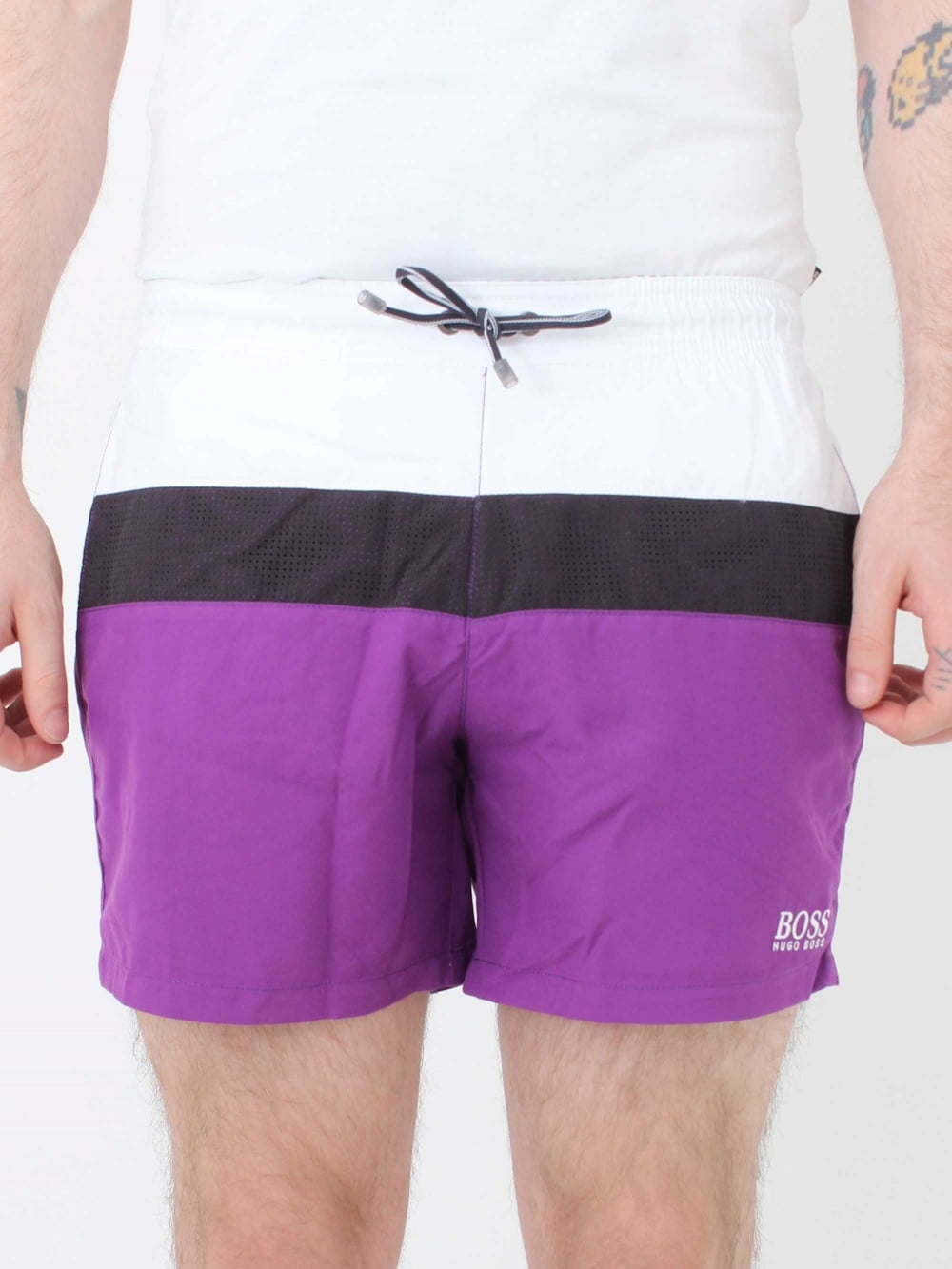 2b84e58408 Hugo Boss Zebrafish Swim Shorts in Purple | Northern Threads