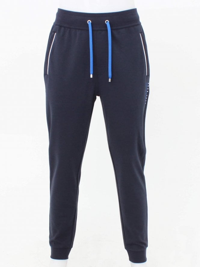 BOSS Bodywear Logo Track Pants - Dark Blue