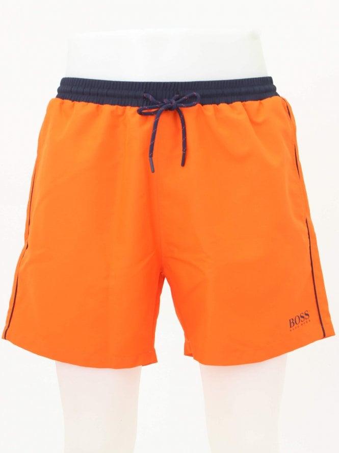 04e1b3323 Hugo Boss Bodywear Starfish Swim Shorts in Bright Orange | Northern ...