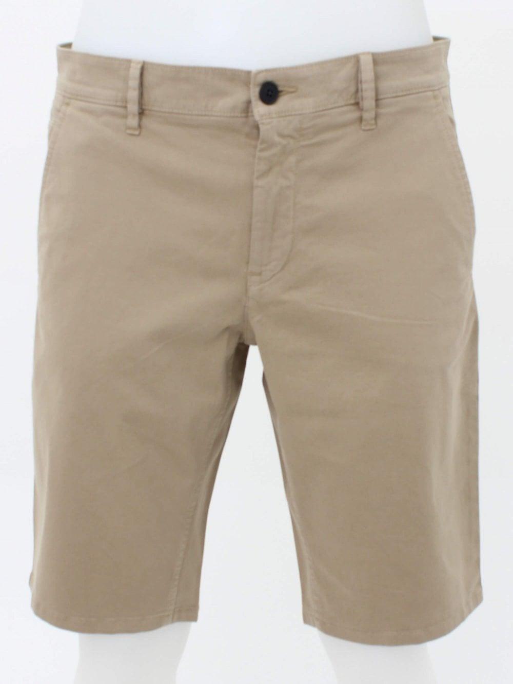 498f1246a Hugo Boss Casual Schino Slim Fit Shorts in Medium Beige | Northern ...