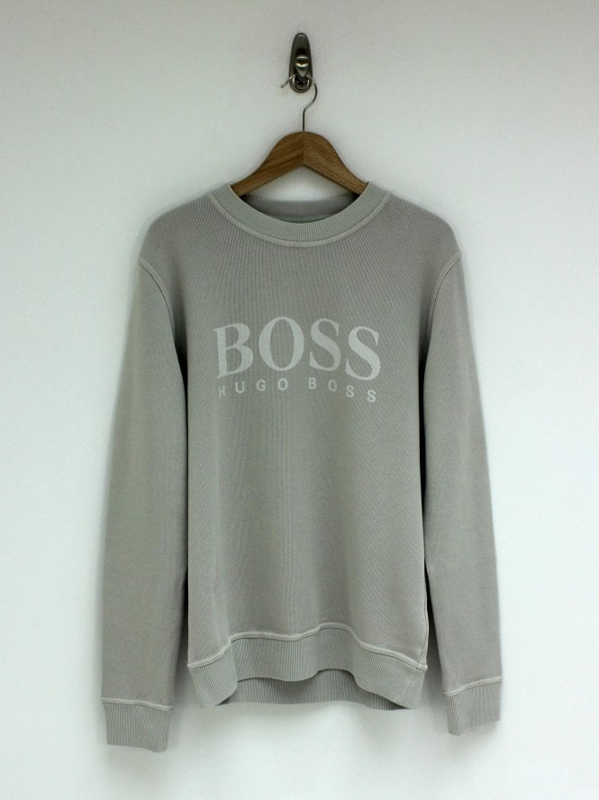 BOSS Casual Weave Sweat - Open Grey