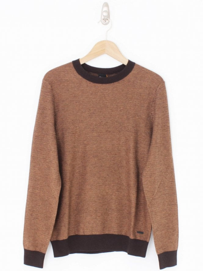 BOSS Casual Akanicos Knit - Dark Brown