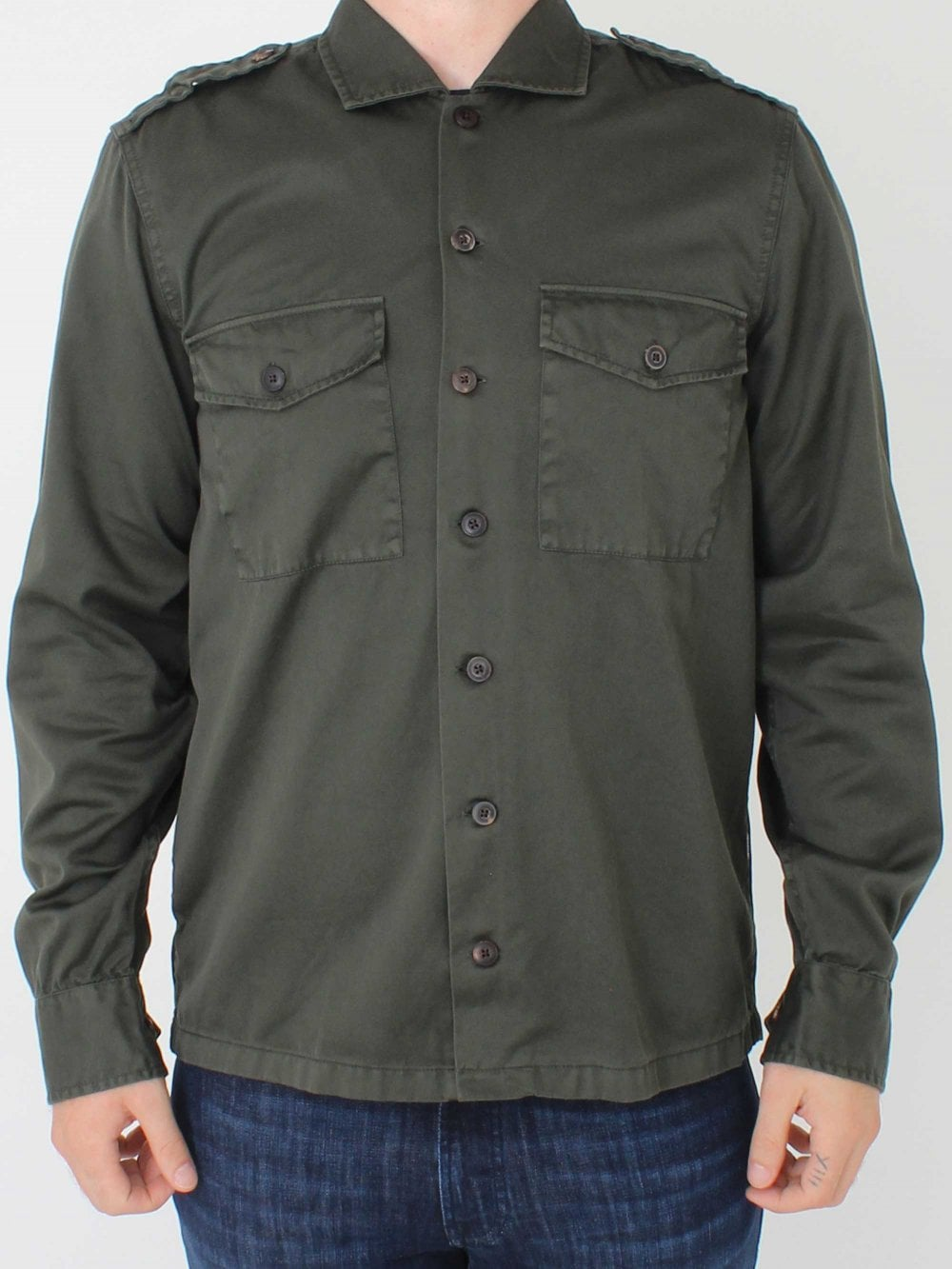 a4b4e973ebd Casual Lovel Shirt - Dark Green