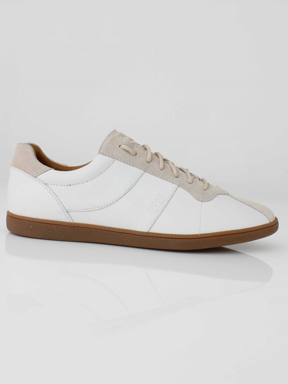 4077c7544bc1 Hugo Boss Rumba Tenn Trainer in White | Northern Threads