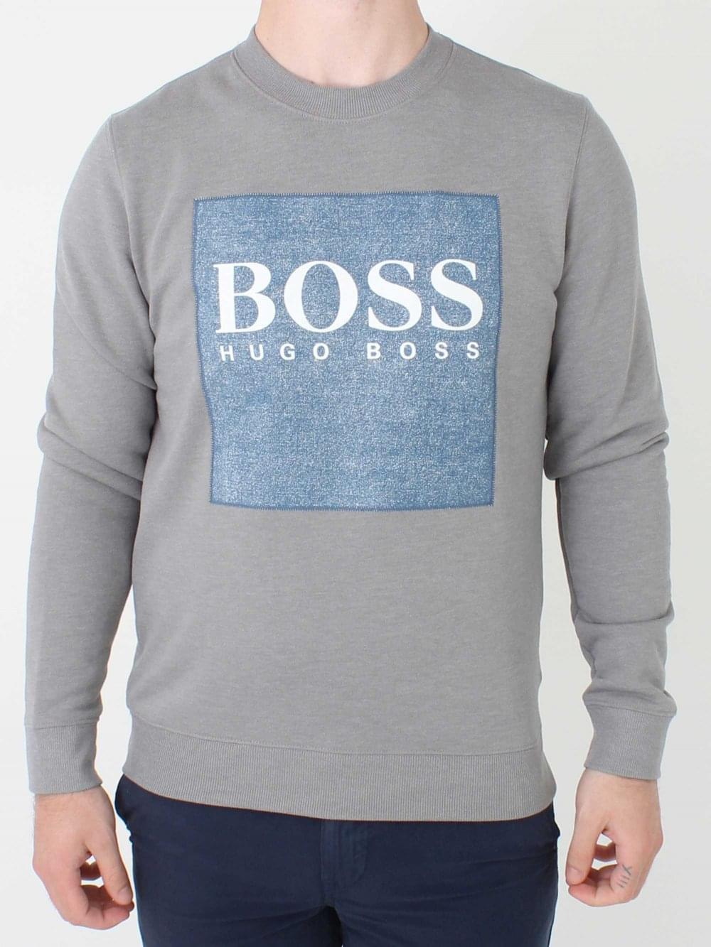 e40992239df Hugo Boss Wedford Sweat in Pastel Grey | Northern Threads
