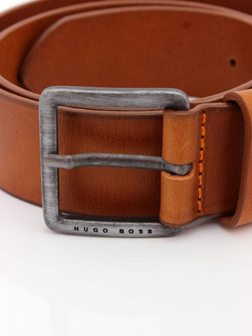 dd93a32ba4b0 Hugo Boss Casual Jeeko Leather Belt in Medium Brown | Northern Threads