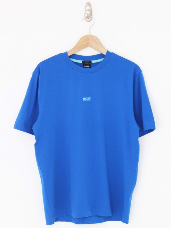 BOSS Casual Tchup Central Logo T.Shirt - Bright Blue