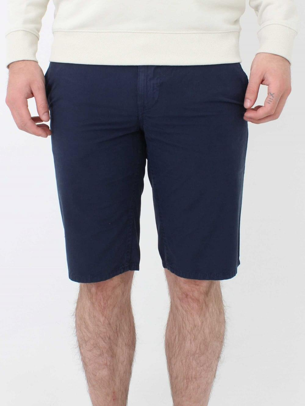 33b09998 Hugo Boss Schino Slim Fit Shorts in Dark Blue | Northern Threads