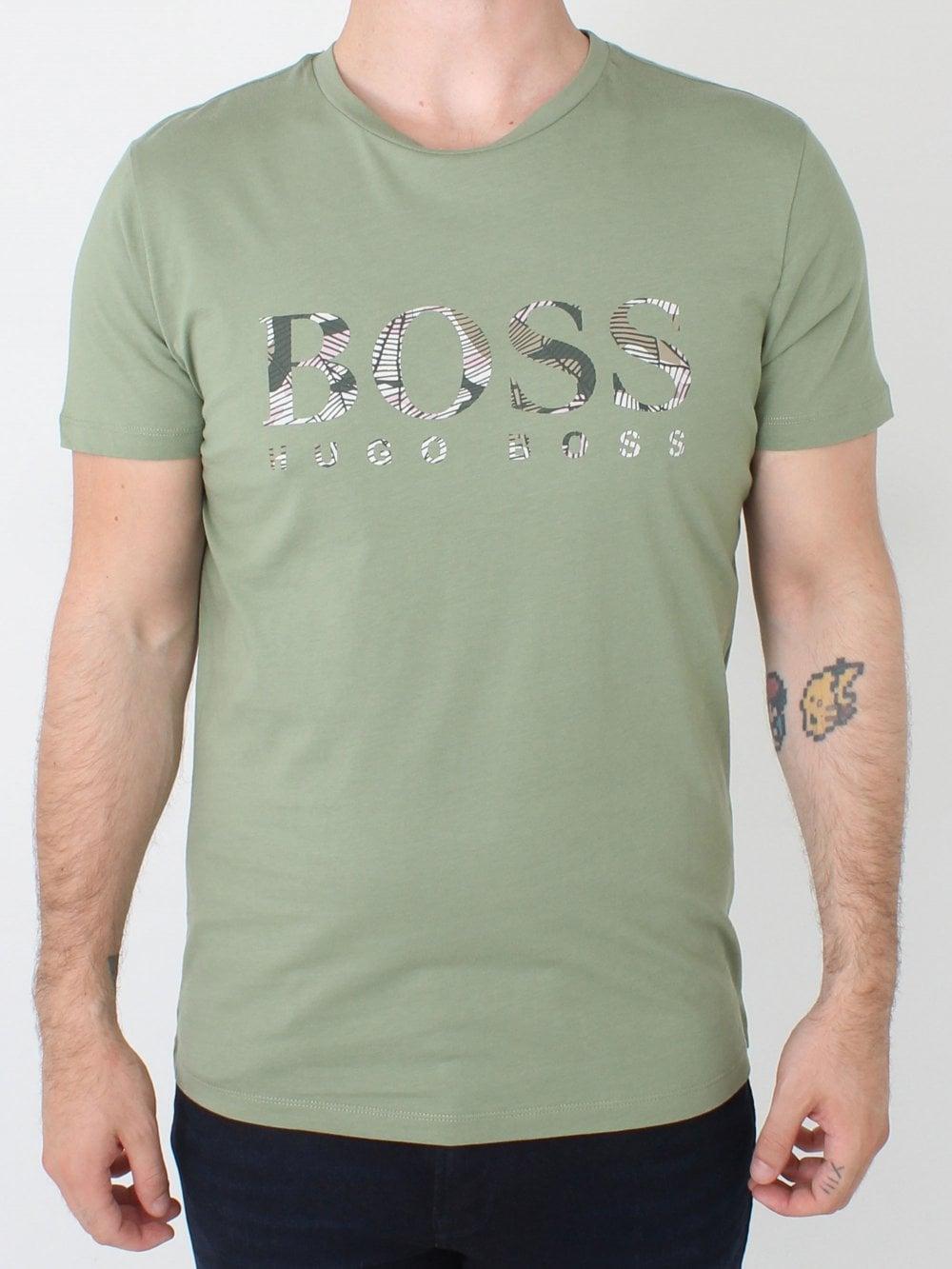 00e0e024e Hugo Boss Tauno 7 T-Shirt in Pastel Green   Northern Threads