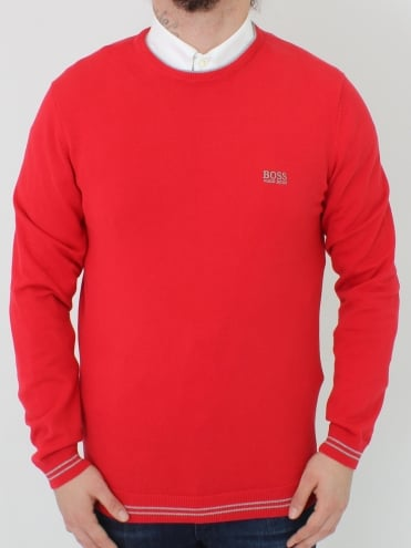 Rime Crew Neck Knit - Medium Red