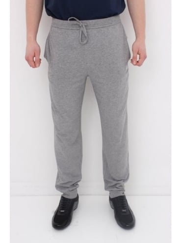 - BOSS Hugo Boss Cuffed Logo Pants - Medium Grey