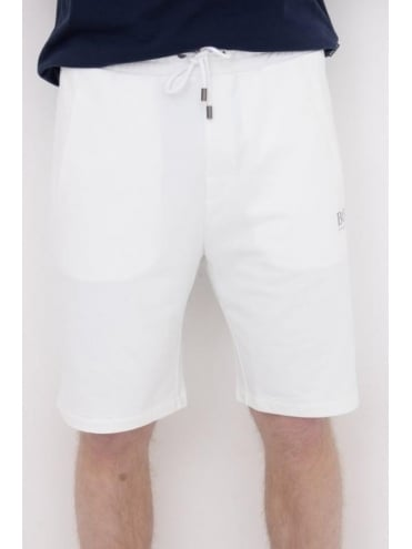 - BOSS Hugo Boss Drawstring Logo Shorts - White