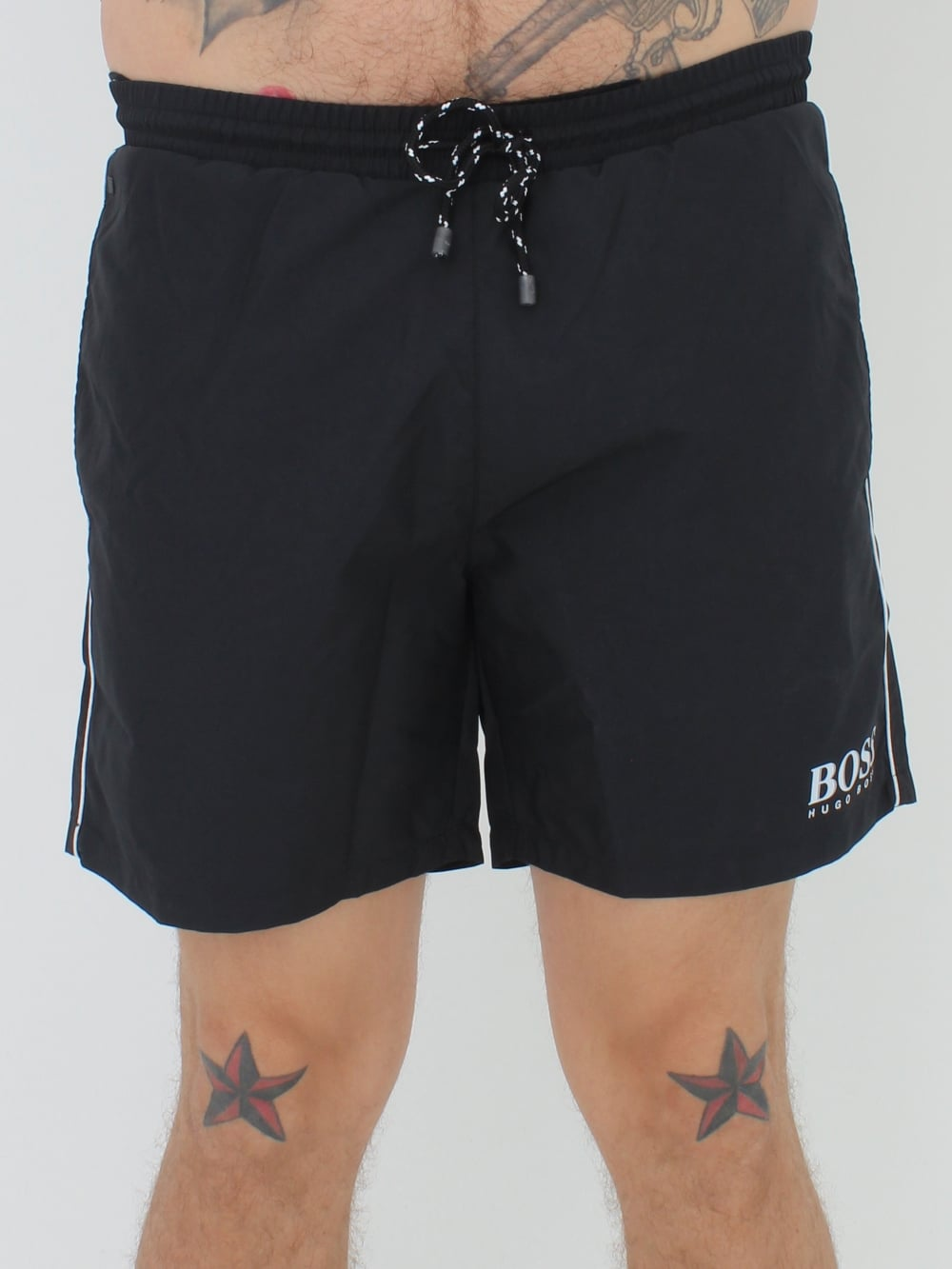 027ed00936 Mens BOSS -BOSS Hugo Boss Starfish BM Swimshorts - Black | SALE ...