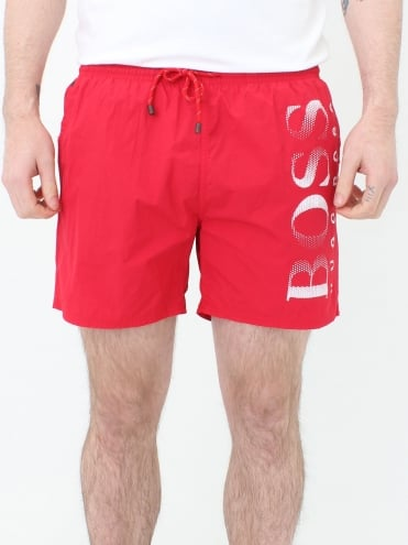 Octopus Swim Shorts - Red