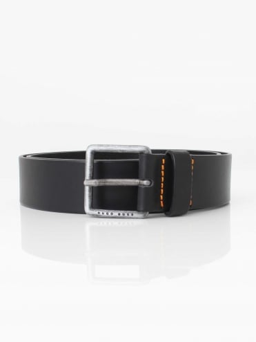 Jeeko Leather Belt - Black