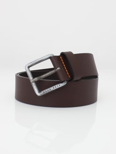 Jeeko Leather Belt - Dark Brown