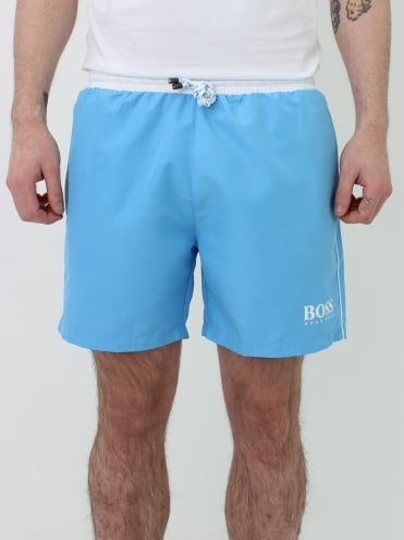 Starfish Swim Shorts - Pastel Blue