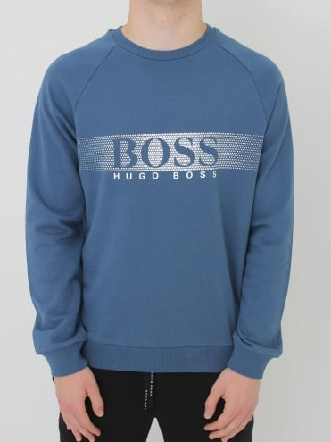 - BOSSHugo Boss Oversized Logo Crew Sweat - Navy