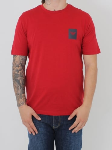 Box Logo Crew Neck T.Shirt - Red
